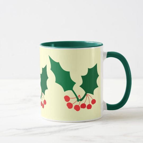 Holly and Berries Mug