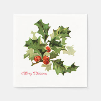 Holly and Berries Napkin