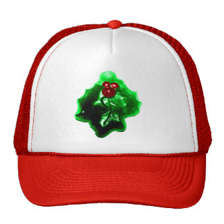 Holly and Berries Shaped Christmas Mesh Hats