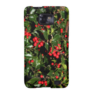 Holly and Berries (style 1) Samsung Galaxy s2 Case
