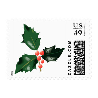 Holly and Berries Xmas Holidays Christmas Postage
