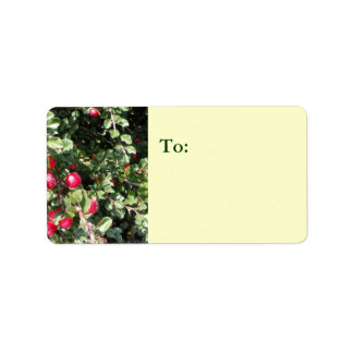 Holly and Berry Address Label