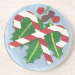 Holly and Candy Canes Coaster