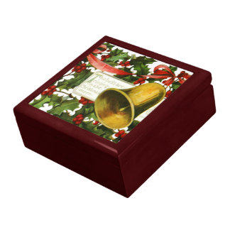 Holly and Christmas bells Gift Box