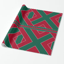 Holly and Ivy-Colored III Wrapping Paper