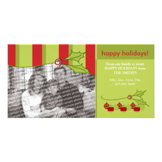 Holly and Ivy Happy Holidays Custom Template :: 01