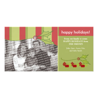 Holly and Ivy Happy Holidays Custom Template :: 03