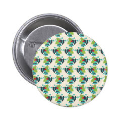Holly and Jingle Bells Retro Christmas Pattern Buttons