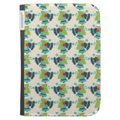 Holly and Jingle Bells Retro Christmas Pattern Case For The Kindle
