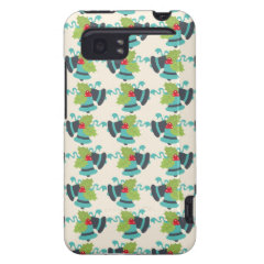 Holly and Jingle Bells Retro Christmas Pattern HTC Vivid / Raider 4G Cover