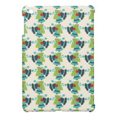 Holly and Jingle Bells Retro Christmas Pattern Case For The iPad Mini