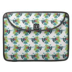 Holly and Jingle Bells Retro Christmas Pattern Sleeve For MacBook Pro