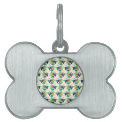 Holly and Jingle Bells Retro Christmas Pattern Pet ID Tag