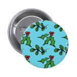 Holly and Mistletoe Buttons