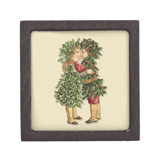 Holly and Mistletoe Kiss Gift Box