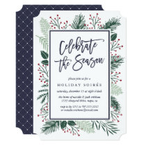 Holly and Pine | Holiday Party Invitation