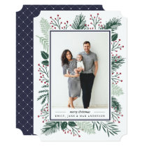 Holly and Pine | Holiday Photo Card