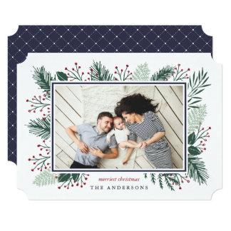 Holly and Pine | Horizontal Holiday Photo Card