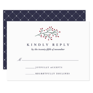 Holly and Pine RSVP