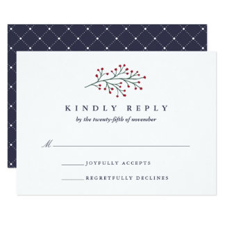 Holly and Pine RSVP Card