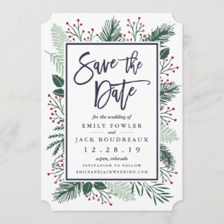 Holly and Pine Save the Date