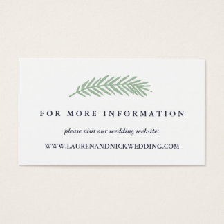 Wedding Details - Holly and Pine Wedding Website Cards