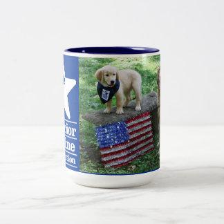 Holly and pup mug