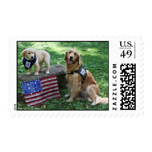 Holly and pup stamp
