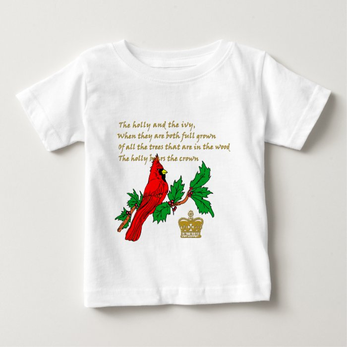 Holly and the Ivy Illustrated on Apparel & Gifts Baby T-Shirt