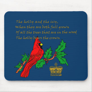 Holly and the Ivy Illustrated on Apparel & Gifts Mouse Pad