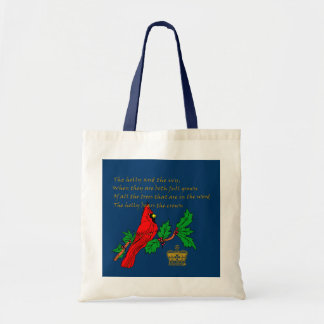 Holly and the Ivy Illustrated on Apparel & Gifts Tote Bag