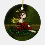 Holly Angel Christmas Tree Ornaments