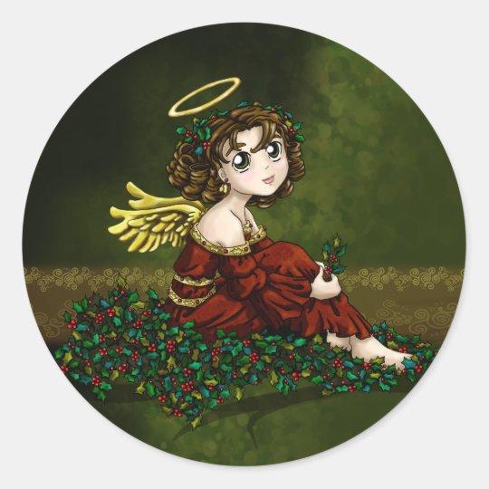 Holly Angel Classic Round Sticker