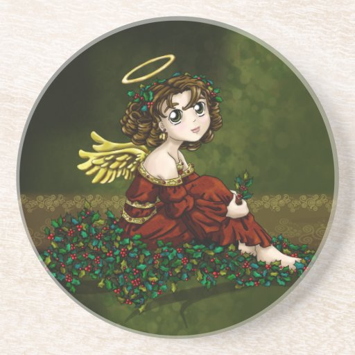 Holly Angel Drink Coaster