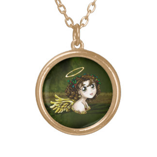 Holly Angel Gold Plated Necklace