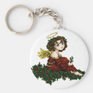 Holly Angel Keychain