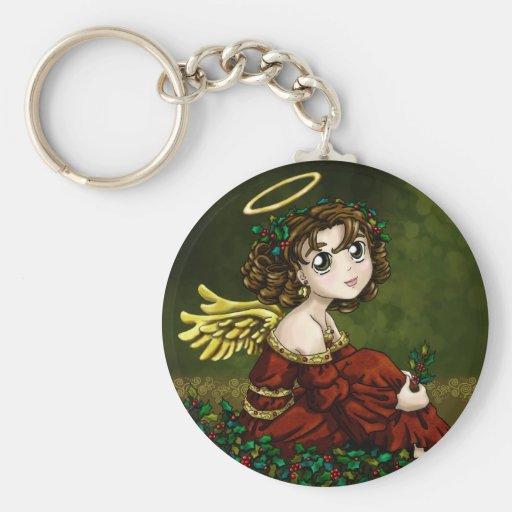 Holly Angel Keychains