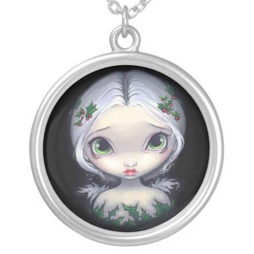 Holly Angel NECKLACE Christmas Fairy