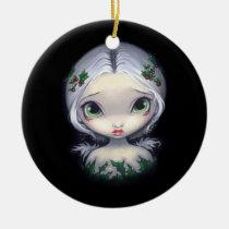 artsprojekt, angel, holly, christmas, holiday, xmas, art, fantasy, eye, eyes, big eye, big eyed, jasmine, becket-griffith, becket, griffith, jasmine becket-griffith, jasmin, strangeling, artist, goth, gothic, fairy, gothic fairy, faery, fairies, faerie, fairie, lowbrow, low brow, big eyes, strangling, fantasy art, original, lowbrow art, pop, surrealism, pop surrealist, painting, Ornamento com design gráfico personalizado