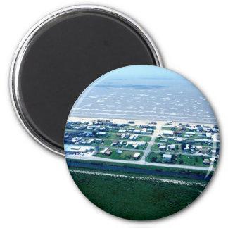 Holly Beach Louisiana 2 Inch Round Magnet