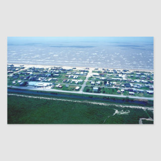 Holly Beach Louisiana Rectangular Sticker