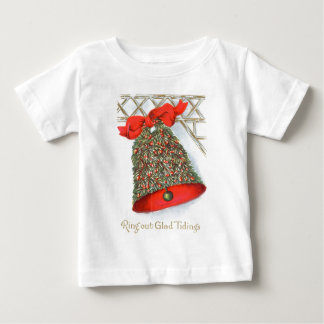 Holly Bell Red Ribbon Glad Tidings Baby T-Shirt