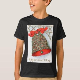 Holly Bell Red Ribbon Glad Tidings T-Shirt