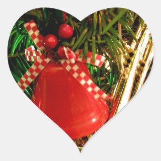 Holly Bell Heart Sticker