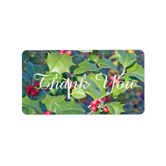 holly berrie,nature personalized address label