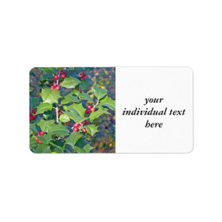 holly berrie,nature custom address label
