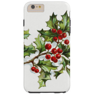 Holly Berries 001 Tough iPhone 6 Plus Case