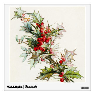 Holly Berries 004 Wall Sticker