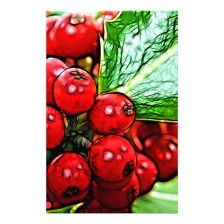 Holly Berries 006 Personalized Stationery