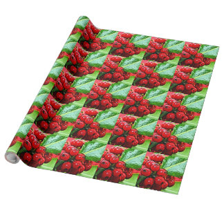 Holly Berries 006 Wrapping Paper